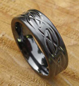 Womens black rings